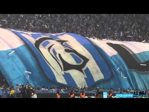 """""""Racing Campeón 2014 - La salida - La Guardia Imperial"""" Barra: La Guardia Imperial • Club: Racing Club • País: Argentina"""