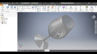 How to draw a glass of wine using AUTOCAD Inventor and how to draw a sphere.(Tutorial) UNISA CAD161S