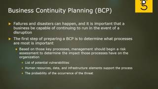 27. Business Continuity Planning BCP