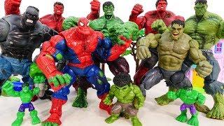 HULK SMASH Toys Collections Go ~! Red Hulk, Spider Hulk Vs Incredible Hulk Marvel Avengers Battle