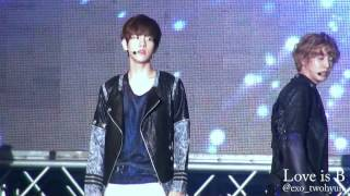 120823 Chungju Rice Farmer Festival EXO-K Angel Baekhyun Focus