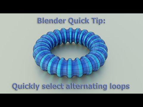 Blender Quick Tip: Quickly select alternating loops (Blender Tutorial)