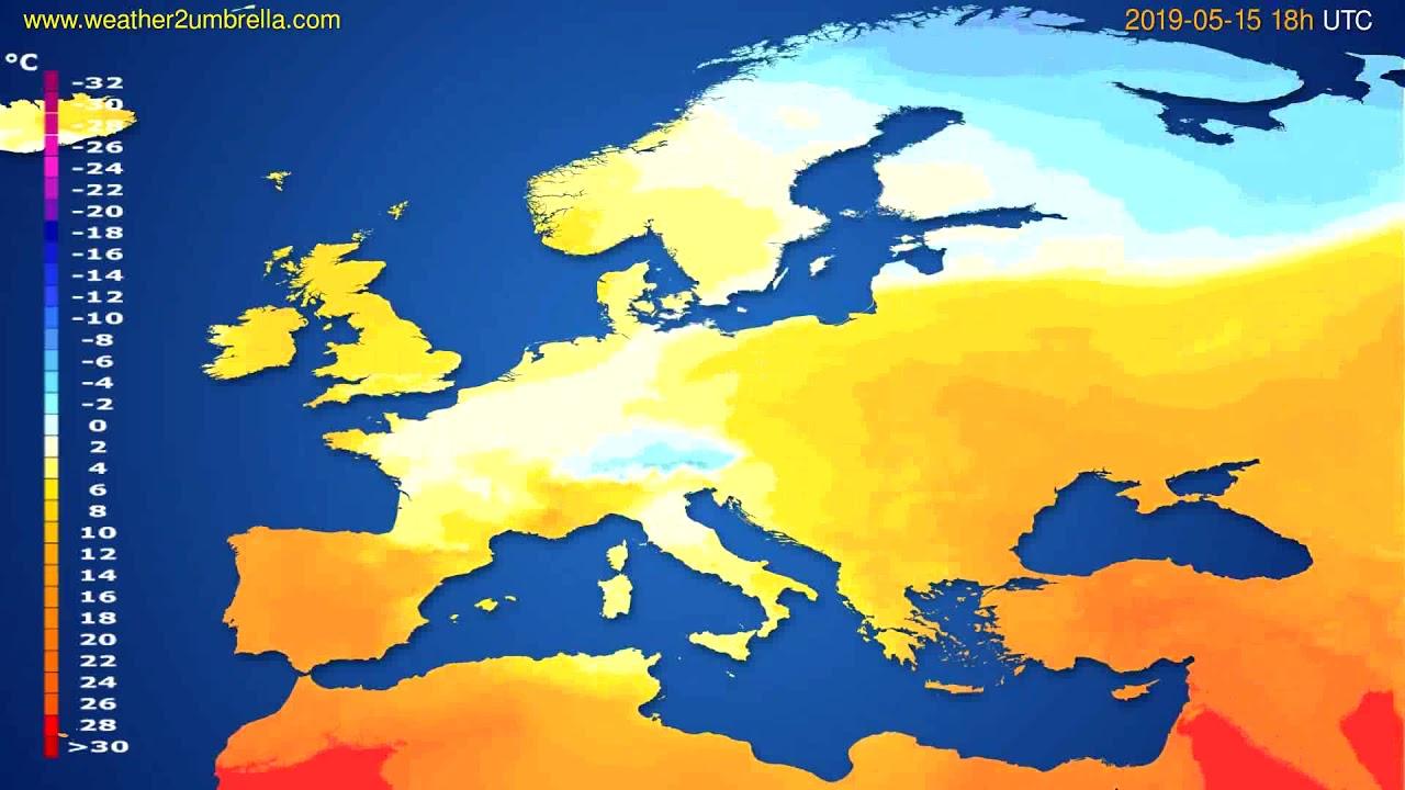 Temperature forecast Europe // modelrun: 12h UTC 2019-05-12