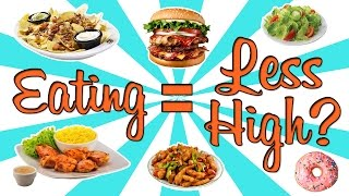 DOES EATING MAKE YOU LESS HIGH?? - (Weed Myths #6)