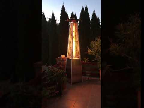 Livigno Gázüzemű Látvány Hősugárzó INOX - BFH-A-SS - PB gáz üzemű - TERASZ FŰTŐ, kerti
