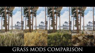 Skyrim SE Mods: Grass Mods Comparison ( Verdant, Veydosebrom, Viscous Foliage, SFO )