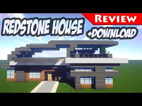Redstone Beach House (REDSTONE MODERN HOUSE) - Minecraft Redstone