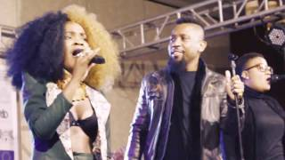 Amantle Brown Performing Live Alongside Her Band At Avani