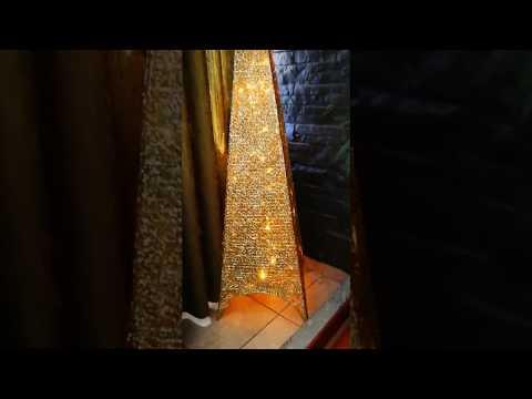 Árbol de navidad pirámide con 100 luces led fácil de armar