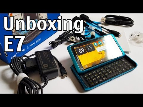 Nokia E7 Blue Unboxing 4K with all original accessories Nseries RM-626 review