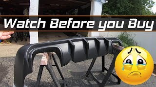 Watch before you buy the Ikon Motorsports Challenger Rear Diffuser!