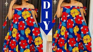 DIY, ROBE MAXI, SIMPLE, Été, Débutant \ HOW TO MAKE, MAXI CIRCLE DRESS, Beginner