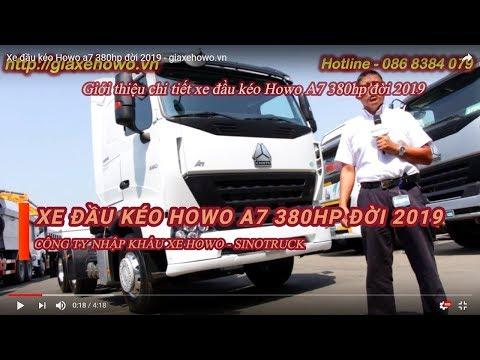 Xe đầu kéo Howo A7 380hp Euro 5 đời mới