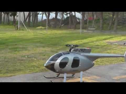 Shockwave2 RC Sound System in 800 size UH-1D Huey - смотреть