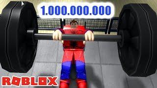 LEVANTANDO 1.000.000 KG NA ACADEMIA - Weight Lifting Simulator 3 ROBLOX