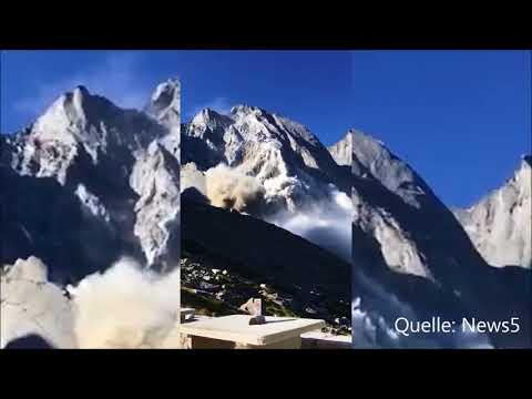 Riesiger Bergsturz in Graubünden (Schweiz) - Augenzeugenvideo vom 23.07.17
