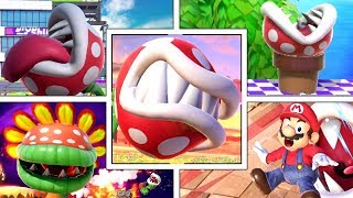 Piranha Plant's Various Funny Animations in Smash Bros Ultimate (Sleeping, Dizzy, Swimming & More!)
