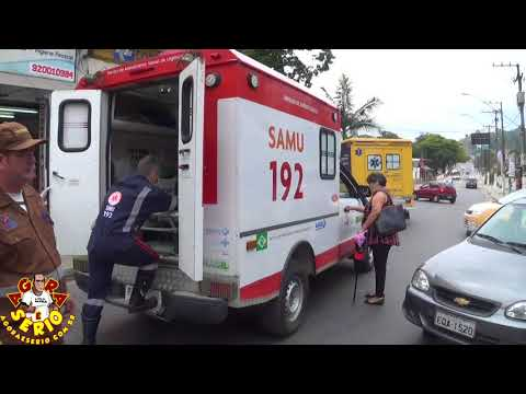 Samu de Juquitiba presta socorro a idoso que passou mal no centro da Cidade