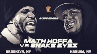 MATH HOFFA VS SNAKE EYEZ SMACK/ URL RAP BATTLE