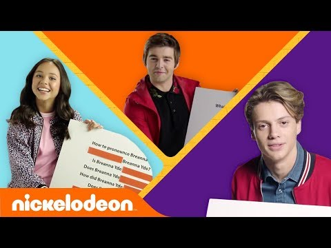 Get to Know Jace Norman, Breanna Yde, & Jack Griffo 🍕 🇬🇧 💍 | #KnowYourNick