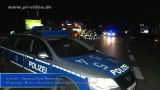 preview picture of video '11.04.2011 - Wiesloch - 36-jähriger Motorrollerfahrer lebensgefährlich verletzt'