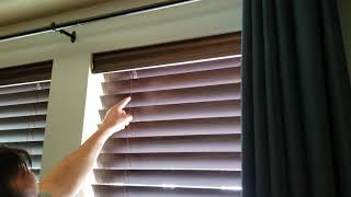 Wood and Faux Wood Blinds Valance with Flush Cut Valance