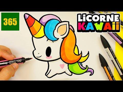 Comment Dessiner Une Licorne Kawaii Guuhdessins Video Musicpleer