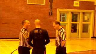 Both the referee get's mad at BasketBall coach - Jan 13,2014