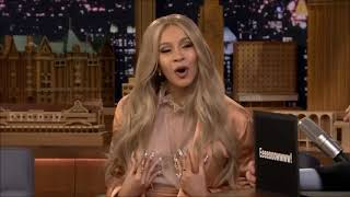 Cardi B And Jimmy Fallon Interview (ALL FUNNY AND AWKWARD MOMENTS Pt 2!)