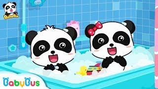 Baby Panda Loves Bubble Bath | Bath Song | Nursery Rhymes | Kids Songs | Baby Songs | BabyBus