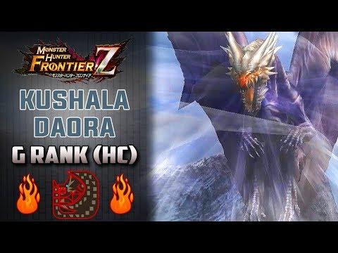 「Monster Hunter Frontier Z」 Cazando a Kushala Daora Rango G (Hardcore) | MHF-Z Gameplay Español