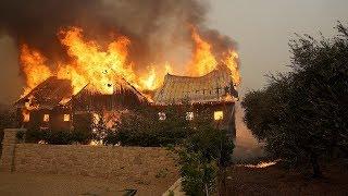 Пожары в Калифорнии: 10 погибших, 1500 сгоревших домов (новости)