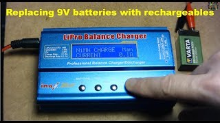 Replacing 9V batteries with rechargeables ?