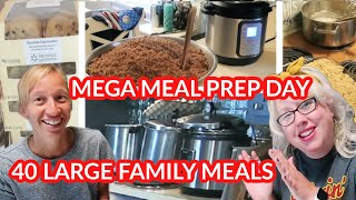 Meal Planning & Meal Prepping 40 Large Family Meals | 45 Lbs Of Chicken Thighs, Dairy Free Desserts!