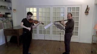 C.P.E BACH -  DUETTO FOR FLUTE AND VIOLIN - MARC & GLENN ZUILI