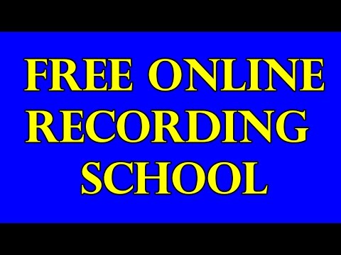 Free Online Audio Engineering School Recording Arts