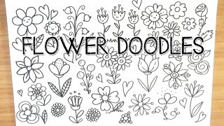 Spring Flower Doodles   Doodle With Me