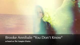 <b>Brooke Annibale</b>  You Dont Know Best Quality