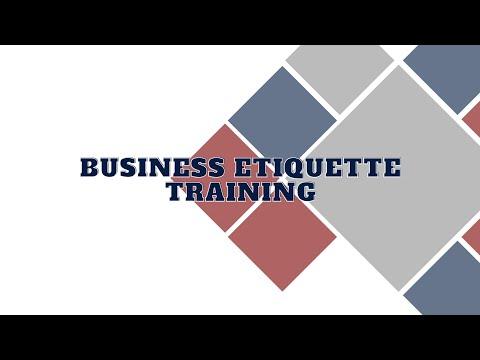Business Etiquette Training Program