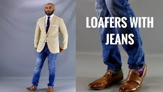 How To Wear Loafers With Jeans/How To Style Jeans With Loafers