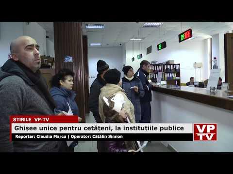 Ghișee unice pentru cetățeni, la instituțiile publice