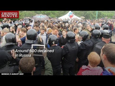 Around 600 detained in Russia