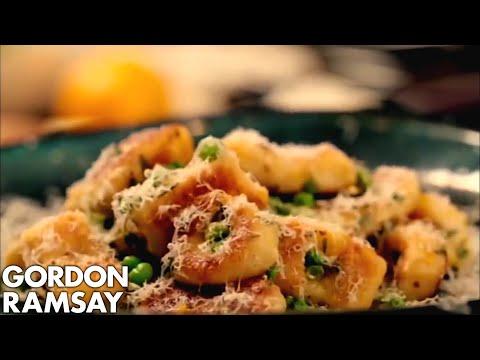 Homemade Gnocchi with Peas and Parmesan – Gordon Ramsay