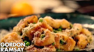 Homemade Gnocchi with Peas and Parmesan - Gordon Ramsay
