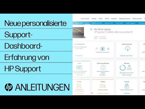 Erfahrungen mit personalisiertem Support-Dashboard von HP Support
