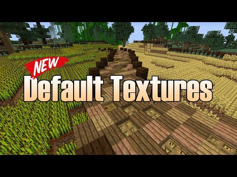 Minecraft New Default Textures - Side by Side Comparison
