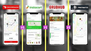 Best Food Delivery Service of 2020 (HONEST REVIEW) - DoorDash vs Grubhub vs Postmates vs Instacart