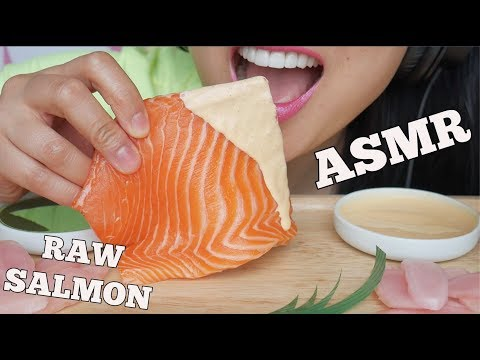 ASMR RAW SALMON (SAVAGE EATING SOUNDS) NO TALKING | SAS-ASMR