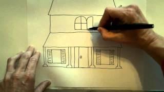 Смотреть онлайн Как нарисовать дом с привидениями