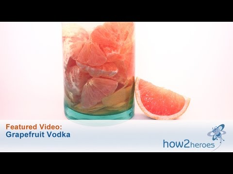 Video Homemade Pink Grapefruit Vodka